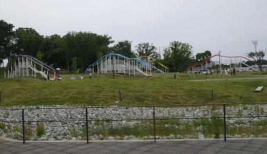 まほろば健康パーク内こども広場で公園遊び♪遊具は滑り台が豊富!プールも楽しい♪