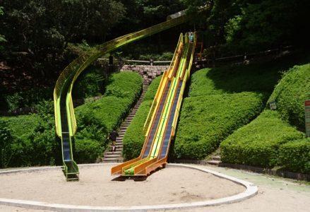 神戸総合運動公園|ロング滑り台や遊具がいっぱい♪春は菜の花と桜・秋はコスモスが楽しめる♪