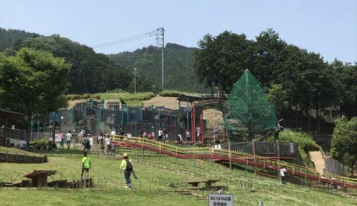 ダム放流が観れる愛甲郡「あいかわ公園」ローラースライダー等の遊具や水遊びが楽しい♪