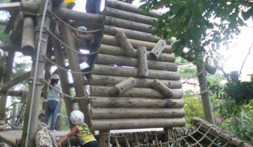 奈良県「生駒山麓公園」のアスレチックに挑戦しよう!ローラー滑り台などの遊具もあるよ♪