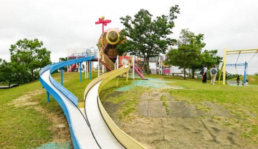 砺波総合運動公園|おすすめ遊具は飛行船型ローラー滑り台♪プールもある屋内施設でスポーツを楽しもう!
